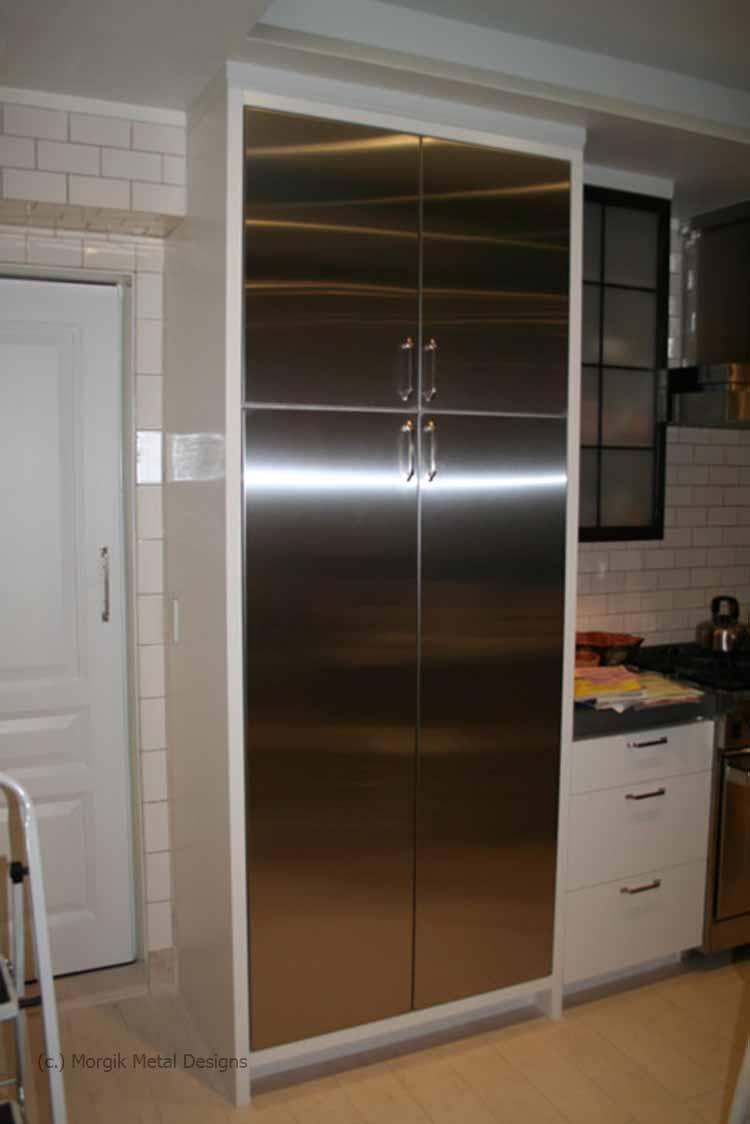 Custom kitchen cabinet door morgik for Custom stainless steel cabinet doors