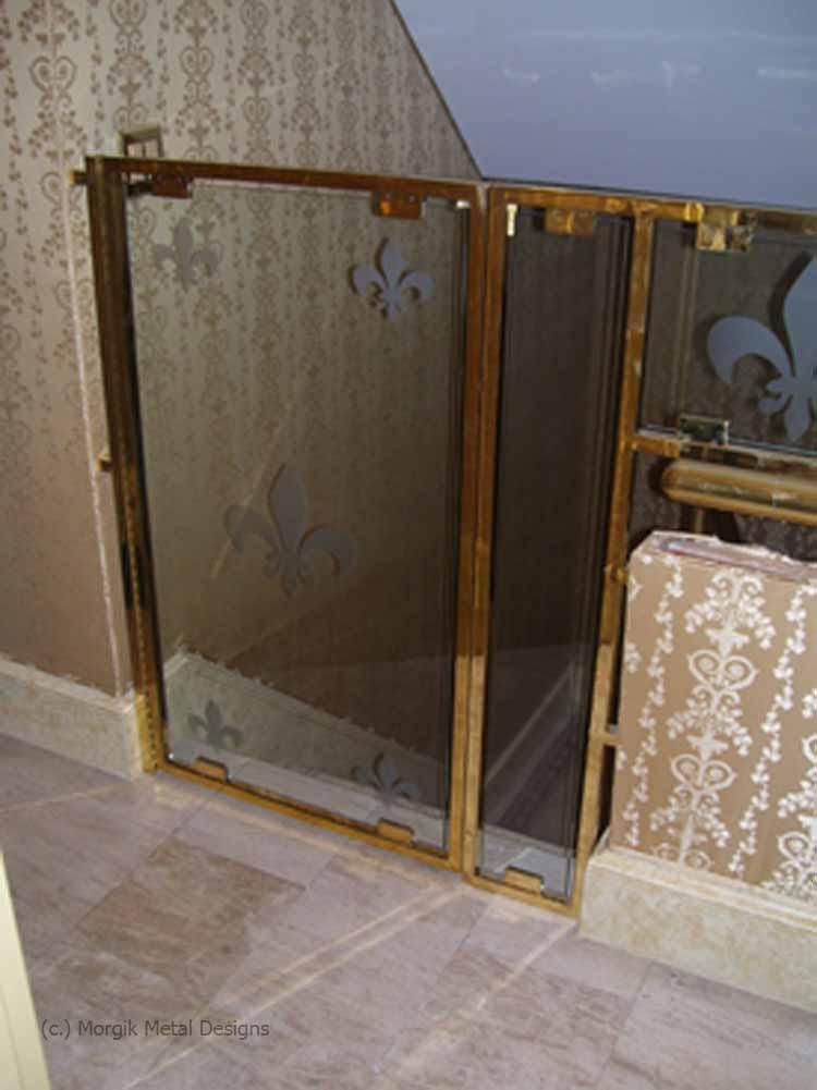 morgik custom brass baby gate