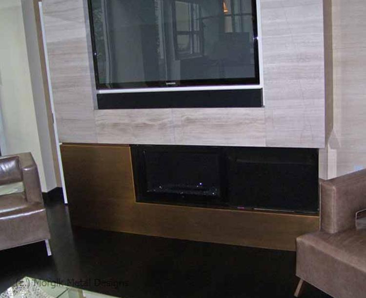 AG Custom Brass Fireplace Clading